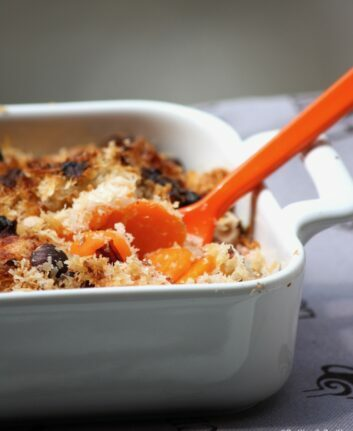 Crumble de carottes, cumin et Parmesan