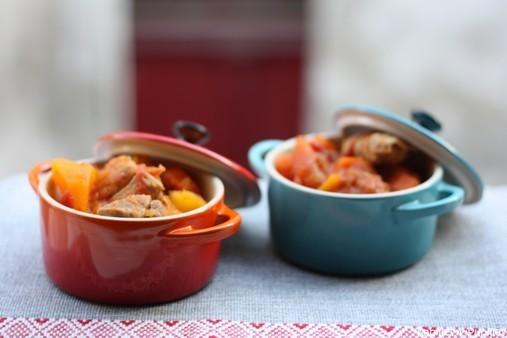 Filet mignon mijoté aux patates douces et aux carottes - En mini cocottes