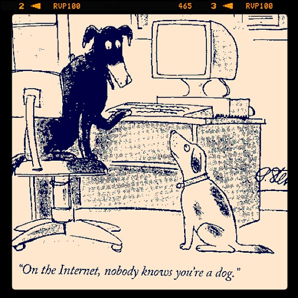 On the Internet nobody know you're a dog