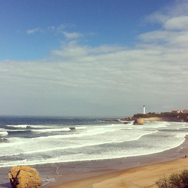 On the beach #Biarritz #fp