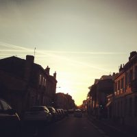 Rising sun #bordeaux