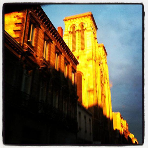 Jolie lumière à Bordeaux ce matin