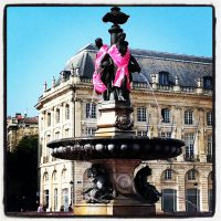 From Bordeaux with love - place de la bourse - octobre rose #FB