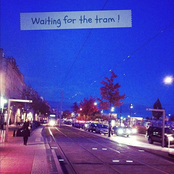 Waiting for the tram ...
