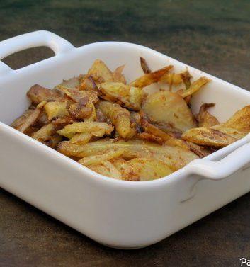 Fenouils sautés au wok, relevés au vinaigre balsamique -
