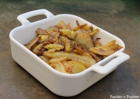 Fenouils sautés au wok, relevés au vinaigre balsamique