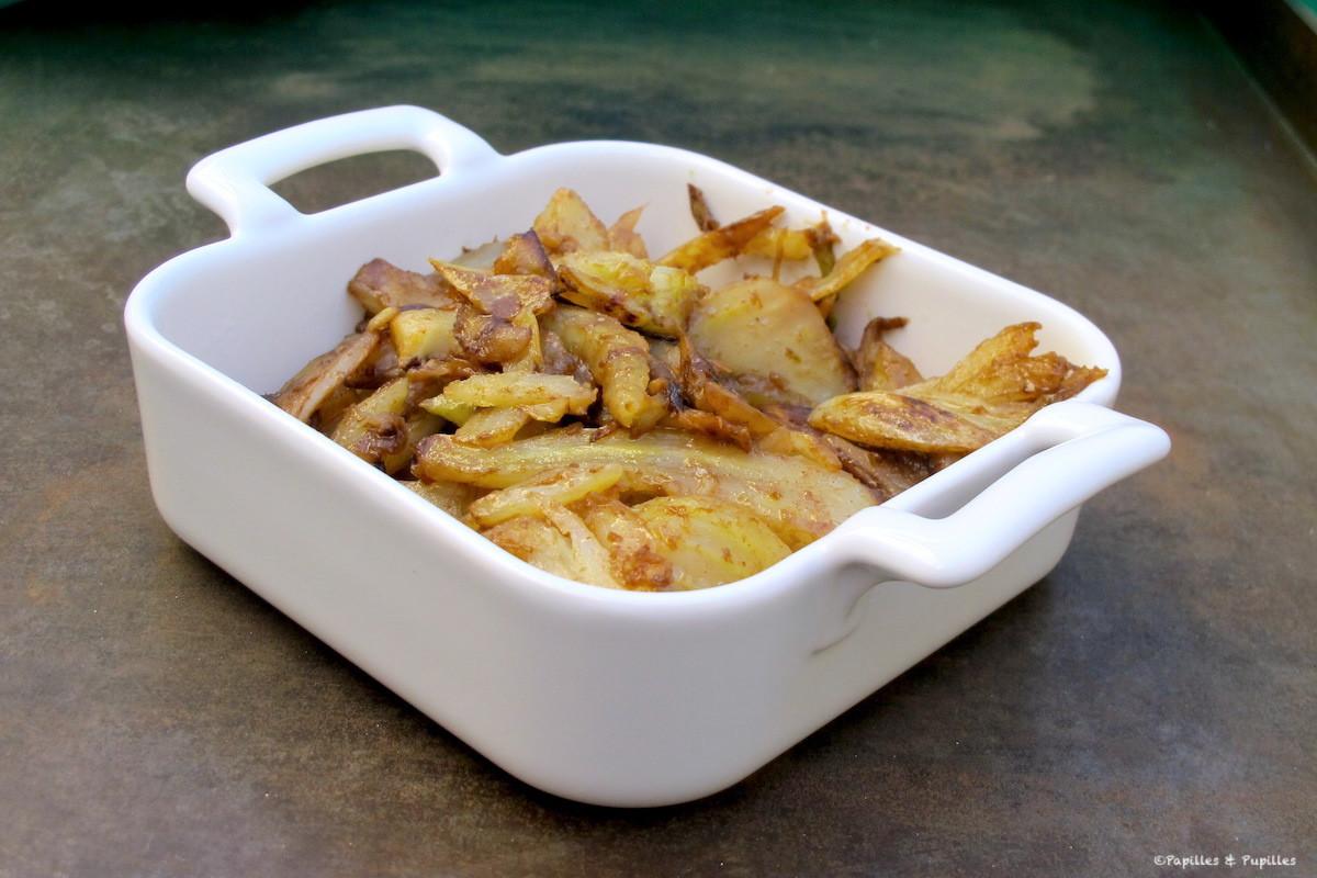Fenouils sautés au wok, déglacés au vinaigre balsamique