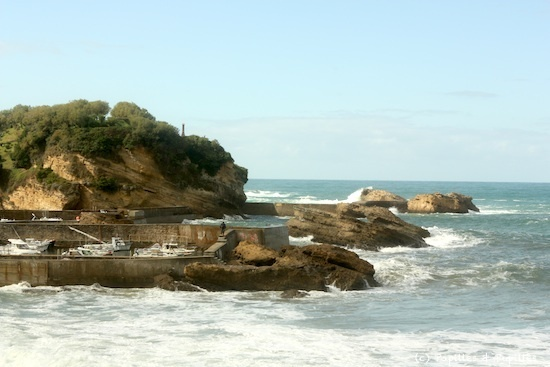 Vue depuis le petit port - Biarritz