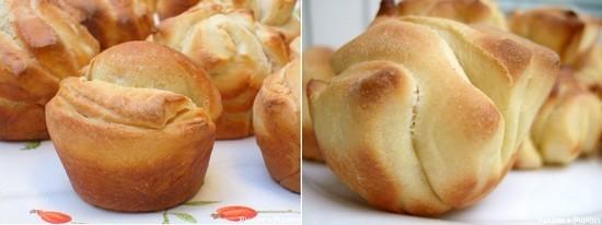 Petits pains en éventail - Même technique