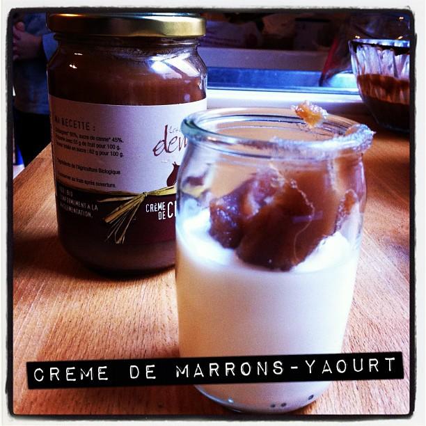 Dessert du jour #CremeDeMarronsAddict