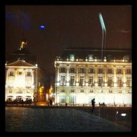 Place de la Bourse - Bordeaux - Brouillard