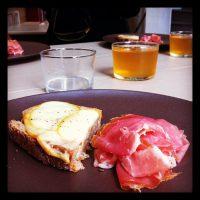 Tartine scamorza fumée - jambon de Bayonne - chez Joubert - bordeaux