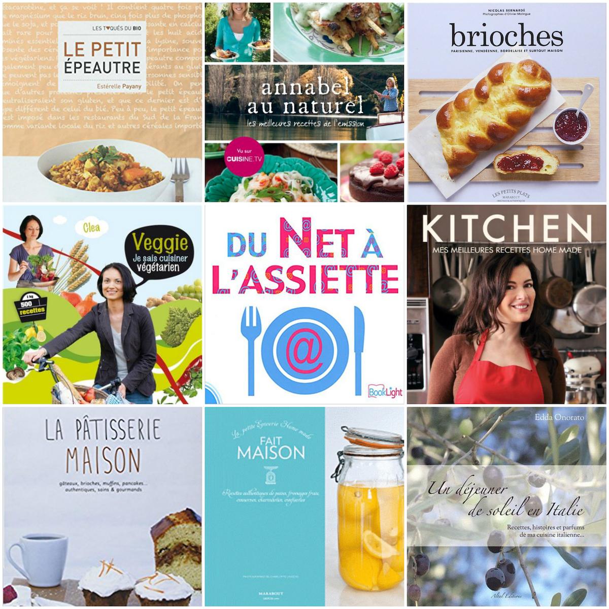 Des livres de cuisine