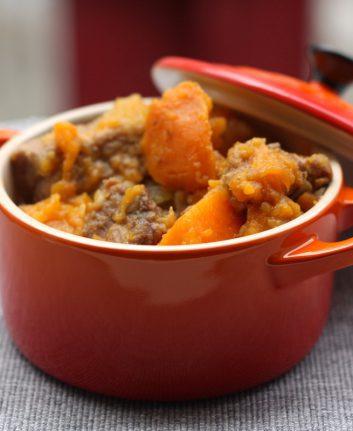 Filet mignon au sirop d'érable aux pommes et aux patates douces [au Delicook]