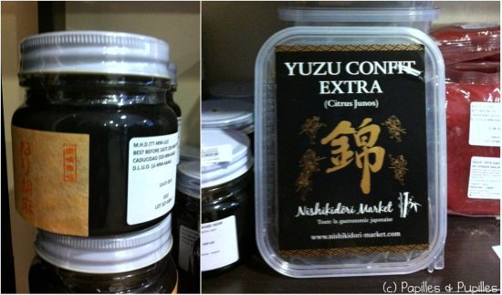 Pâte de sésame noire et yuzu confit extra
