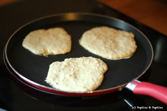 Pancakes en cours de cuisson