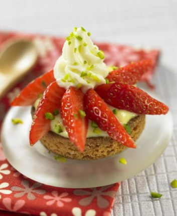 Tartelette aux fraises craquantes
