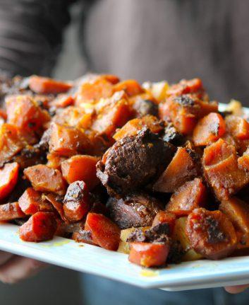 Boeuf mijoté aux carottes et aux pommes de terre
