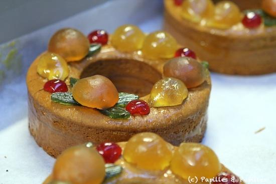 Couronne de pain d'épices aux fruits confits