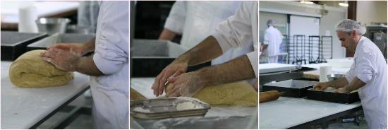 Mise en forme de la pâte -> on met en moule