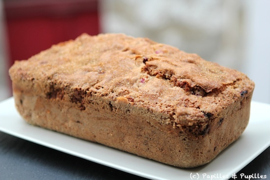 Cake aux airelles et zestes d'orange - Après cuisson