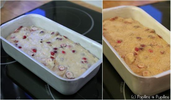 Cake avec et sans sucre avant cuisson