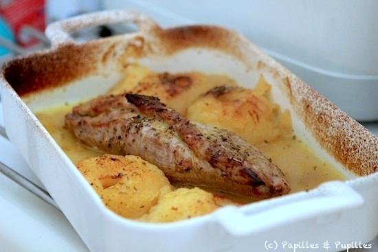 Filet mignon aux pommes miel et curry