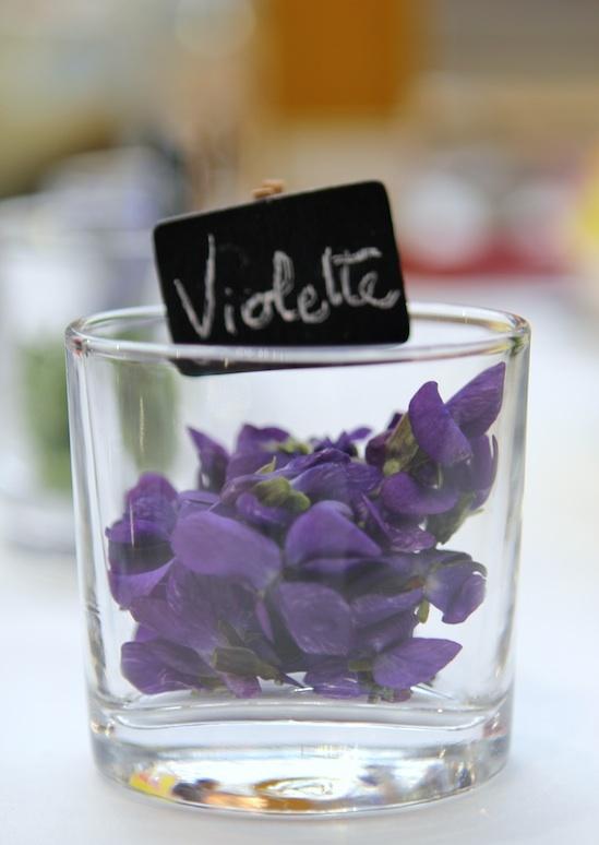 Fleurs comestibles - les Violettes