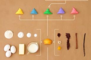 Infographie - L'anatomie d'un cupcake
