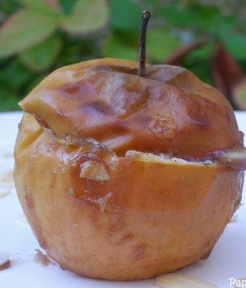Pomme au four à la crème de marrons