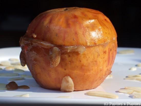 Pomme au four et à la crème de marrons