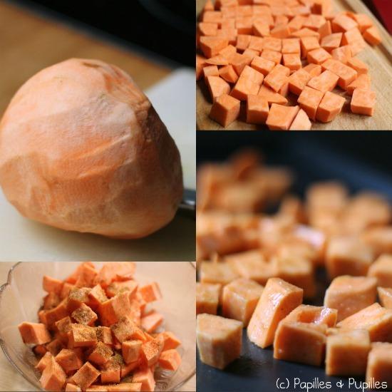 Préparation de la patate douce