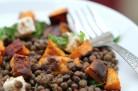 Salade de patates douces lentilles feta