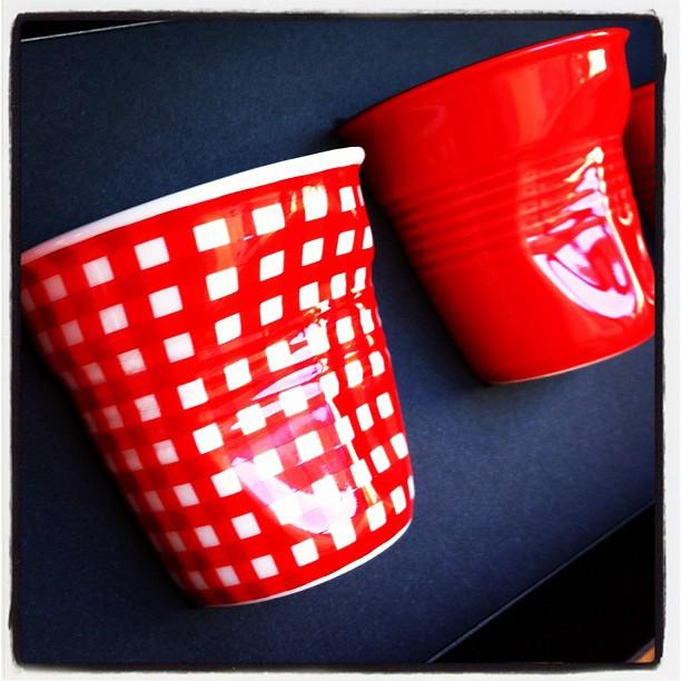 Petits gobelets Vichy rouges trop jolis  #FP