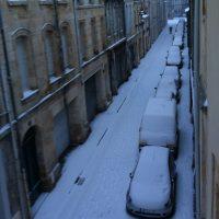 Vue de ma fenêtre ;) #bordeaux #neige