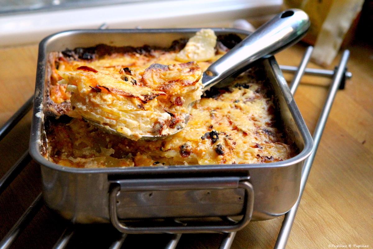Gratin de pommes de terre céleri rave et chorizo