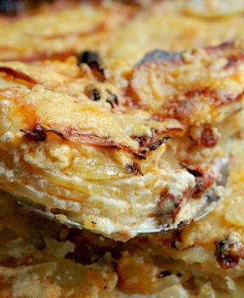 Gratin pommes de terre céleri rave chorizo