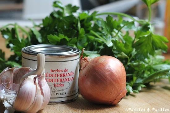 Ingrédients pour sauce Chimichurri