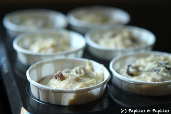 Muffins rhum raisin avant cuisson