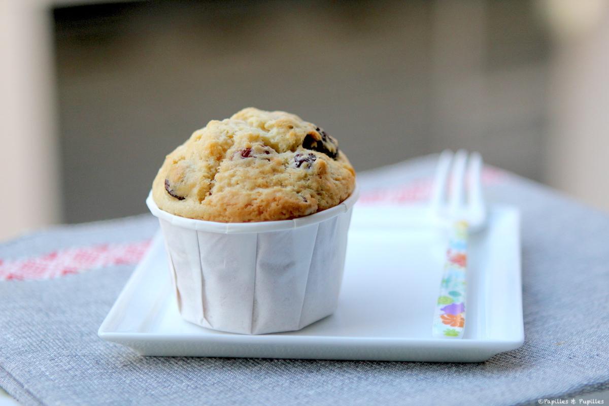 Muffins vanille rhum raisin