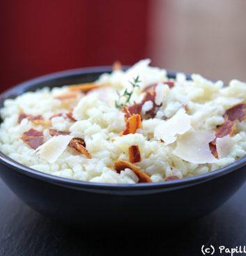 Risotto au thym et à la pancetta