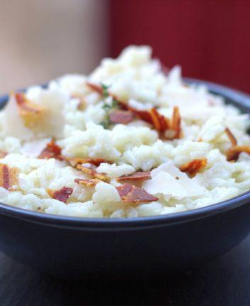 Risotto au thym et pancetta
