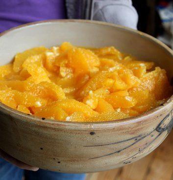 Salade d oranges au sirop de miel épicé