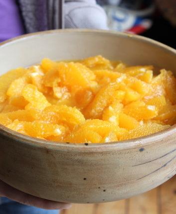 Salade d'oranges au miel épicé