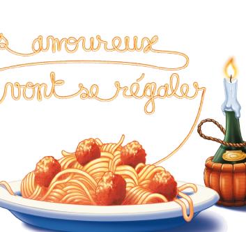 Spaghettis à la bolognese façon Belle et Le Clochard
