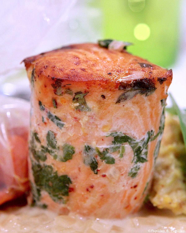 Tournedos de saumon aux herbes fraîches