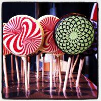 Sucettes tourbillon - salon du chocolat - hangar 14 - bordeaux