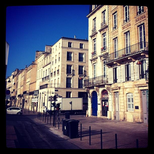 #bordeaux - grand beau temps ce matin et déjà chaud