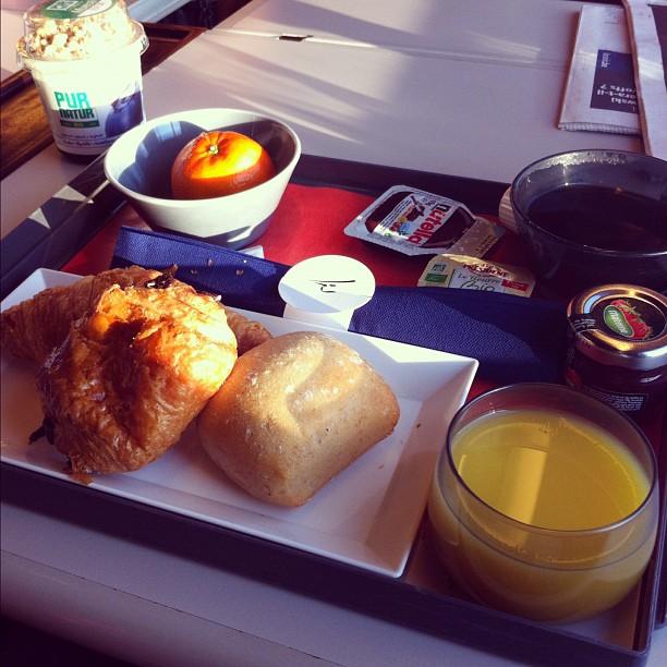 Petit dej Time dans le Thalys
