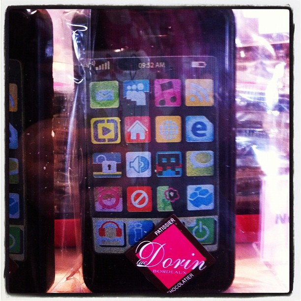 Coques d'Iphone en chocolat